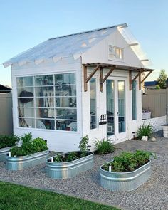 Backyard Studio, Backyard Greenhouse, Backyard Sheds, Backyard Landscaping, Landscaping Design, Outdoor Sheds, Garden Sheds, Shed Office, Backyard Ideas