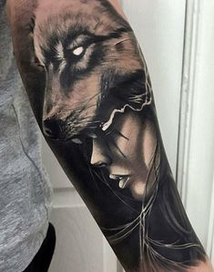 If tattoo designs is what you need, just go for it! Open the link and learn more. Wolf Tattoos, Native Tattoos, Girl Arm Tattoos, Face Tattoos, Badass Tattoos, Viking Tattoos, Animal Tattoos, Body Art Tattoos, Tatoos