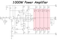 This power amplifier circuit using a transistor amplifier from the front,  signal splitter, driver and power am… | Audio amplifier, Power amplifiers, Circuit  diagram | 1000w Amplifier Circuit Using Transistor |  | Pinterest