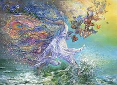 "- Josephine Wall jigsaw puzzle - Fantasy fairy and butterfly theme with 1000 interlocking pieces - Includes a box stand - Measures 19"" x 26"" - Made in Turkey Josephine Wall is a popular artist whose b"
