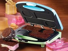 Ice Cream Cookie Sandwich Maker. Now you can turn your kitchen into an old-fashioned ice cream parlor with unique and delicious ice cream sandwiches made from scratch!