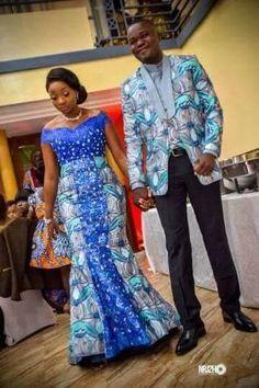 Robe de mariage civil en pagne