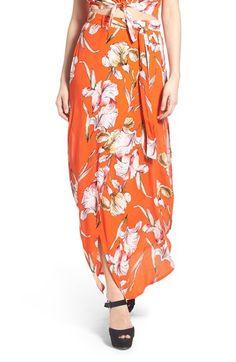 MINKPINK 'Tangerine Dreams' Floral Print Maxi Skirt