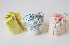 Paper cup gift box tutorial from Papermash Quirky Christmas Gifts, Quirky Gifts, Christmas Gift Wrapping, Holiday Gifts, Pretty Packaging, Gift Packaging, Ideias Diy, How To Make Box, Cute Stationery
