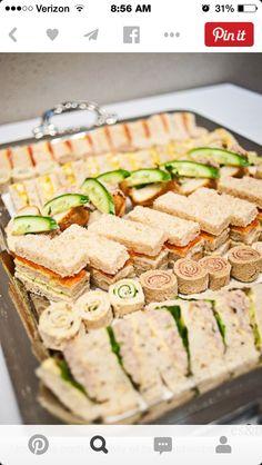 Tea sandwich platter * gardemanger