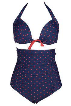 Cupshe Get It Straight Dot Halter Bikini Set