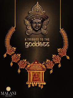 Experience shades of divinity this with Explore and shop now. Jewelry Ads, Jewelry Design Earrings, Gold Jewellery Design, Pendant Jewelry, Wedding Jewelry, Gold Jewelry, Vanki Designs Jewellery, Gold Girl, Temple Jewellery