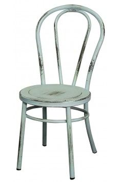 Davis Metal Side Chair. We love these for an #industrial look. #welcomehome #mhf