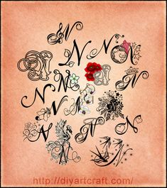 letter heart N tattoos - Google Search
