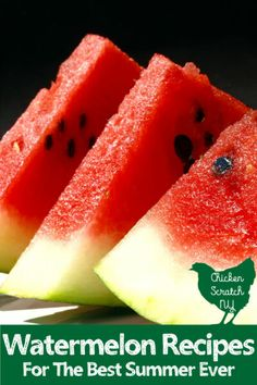 Watermelon is the star of every summer day, or at least it should be! If you're looking for a few more ways to enjoy everyone's favortie fruit check out this collection of watermelon recipes from salads to drinks and desserts Watermelon Appetizer, Watermelon Popsicles, Watermelon Lemonade, Watermelon Salad, Watermelon Recipes, Jam Recipes, Best Dessert Recipes, Fun Desserts, Real Food Recipes