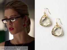 Arrow: Season 4 Episode 7 Felicity's Red Drop Earrings