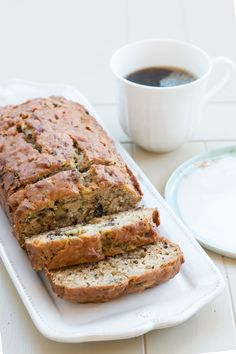 Vegan Zucchini-Banana Bread with Walnuts