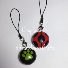 Miraculous Ladybug DOUBLE SIDED Phone Charm by PotatoQueenCrafts