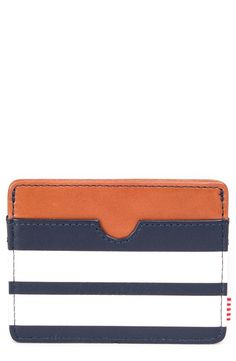 This modern leather card holder will be perfect for those times when a bulky wallet is just too much to carry around.