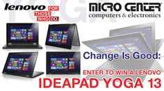 You should enter Micro Center's Change is Good Sweepstakes. There are great prizes and I think one of us could win!