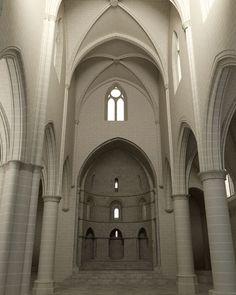 Recreación 3D de la iglesia de San Pedro de la Rua con la altura original de la nave central. 3d, Contemporary Architecture
