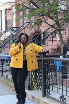 Thrifting Chronicles:  Mustard Statement Jacket by Ashley Stewart