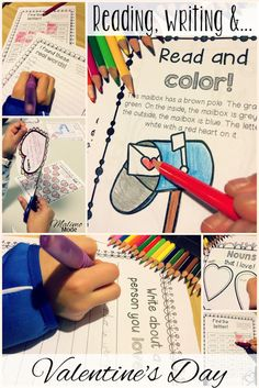 Valentines Unit - language & math - This 50+ page resource will work great on February 14 for your 2nd, 3rd, 4th, or 5th grade classroom and homeschool students. Students will work on writing, reading comprehension, sight words, words-in-words, comparing numbers, creating math problems, telling time, even and odd numbers, and more! Plus they'll get to create Valentine's Day cards. Plus there's a FREE download in the blog post as well! Click through to see all the details.