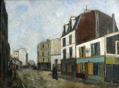 UTRILLO Maurice (Paris, 1883 - Dax, 1955) MERCHANT OF COLOURS IN SAINT-OUEN (Seine Saint Denis), circa 1908