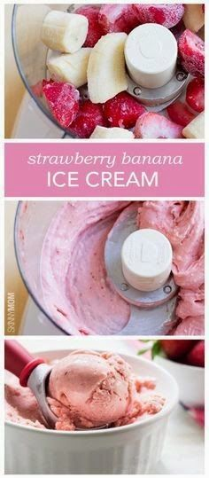 all-food-drink: How To Strawberry Banana Ice Cream