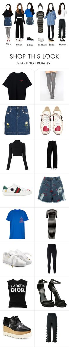 """Girls' era on weekly idol"" by girlsera ❤ liked on Polyvore featuring ASOS, STELLA McCARTNEY, Gucci, Balmain, Marques'Almeida, House of Holland, Sugarhill Boutique, Puma, adidas Originals and Christian Dior"