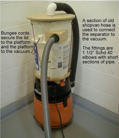 Shop vac cyclone dust collector