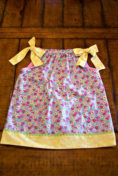 Kept hearing about 'pillow case dresses' so I had to make one for my niece Caroline!