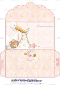 Congratulations On Your New Baby Girl Money Wallet 1 on Craftsuprint designed by Michael Tullio - This is a money wallet which has been designed for the birth of a new baby girl but could also be used for christening, baptism, etc. - Now available for download!