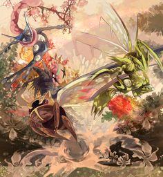 Scyther, Ninjask, Accelgor and Greninja