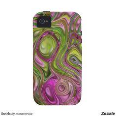 Swirls iPhone 4 Case #Swirl #Decorative #Design #Zazzle #Mobile #Phone #Case #Cover #iPhone