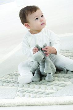 """Noukie's, collection """"Poudre d'étoiles"""" - Pyjama blanc + Paco small gris clair"""