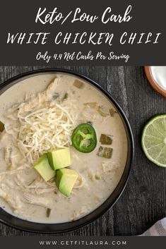 Low Carb Keto, Low Carb Recipes, Healthy Meals, Healthy Recipes, White Chicken Chili, Keto Soup, Tex Mex, Soups And Stews, Crockpot Recipes