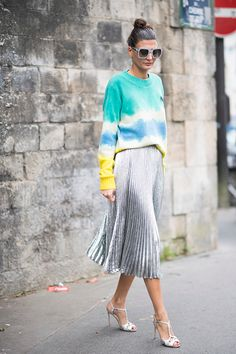 Giovanna Battaglia seen in the streets in Paris before the Valentino show during the Paris Fashion Week Spring/Summer 2017 on October 2 2016 in Paris...