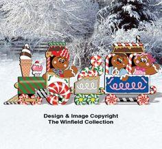 All Christmas - Gingerbread Train Pattern Christmas Yard Art, Christmas Carnival, Christmas Yard Decorations, Christmas Wood Crafts, Christmas Train, Christmas Clipart, Holiday Crafts, Christmas Stuff, Christmas Ideas