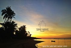 Sunset view from a beachfront land for sale in Bangpor