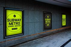 Modern screen mock-up inside subway metro station. This will look perfect with all kinds of posters and advertisements. Simply repleace your own design inside the PSD file and you're good to go in just few seconds!- Photo realistic- Fully layered PSD (minimum CS5)- 3000×2000 pixels size- Real backgr