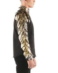 Undershirt Mesh T Shirt, Pleated Shirt, Metallic Mesh Top, Long Sleeve Tops, Long Sleeve Shirts, Cutout Shirts, Mens Sleeve, Lace Button, Loose Shirts