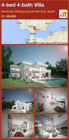 4-bed 4-bath Villa in Marbella, Malaga (Costa Del Sol), Spain ►€1,120,000 #PropertyForSaleInSpain