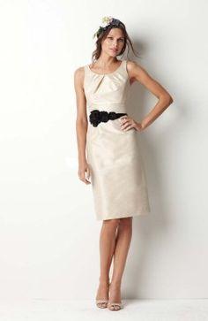 Taffeta Jewel Sheath Knee-length Sleeveless Applique Bridesmaid #Dress $69