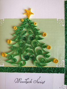 Image detail for -... Choinka Quilling kartka bożonarodzeniowa quilling Święta Quilling