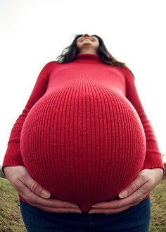 fish eye lens maternity shot...makes a basketball belly