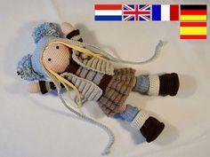 Crochet pattern for doll JOYA pdf Deutsch English