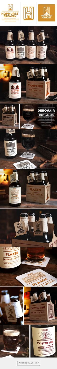 Hophurst Brewery on Behance by Foke Studio curated by Packaging Diva PD. Brand identity, P.O.S, packaging & website for a social enterprise microbrewery.