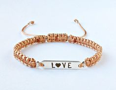 Love Bracelet Inspirational Bracelet Friendship Jewelry