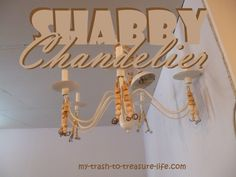 Shabby, beaded, chic chandelier...Rustic Home Decor