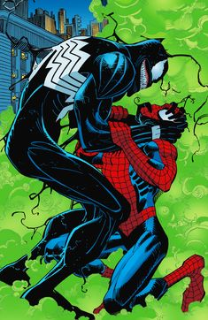Venom vs Spider-man art by John Romita Jr.