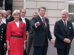 O presidente americano Ronald Reagan durante visita a Berlim em junho de 1987  Foto: AFP