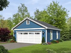 2-Car Garage Plan, 062G-0085