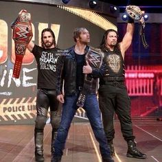 Grand Slam Champs as One Le Shield, The Shield Wwe, Wwe Superstar Roman Reigns, Wwe Roman Reigns, Roman Reigns Dean Ambrose, Wwe Seth Rollins, Wwe Pictures, Catch, Wrestling Stars