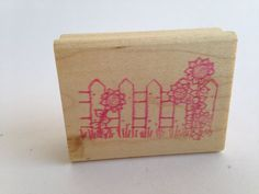 Country Fence with Sun flowers Vintage Rubber Stamp - Card Making - Crafts  161012C by SirStampinton